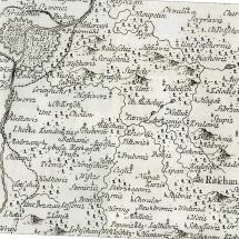 Mapa Kouřimského kraje z 18.stol