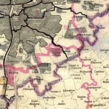 Mapa s vyznačením
