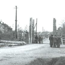 barikáda před sokolovnou